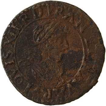 Louis XIII, denier tournois, 1631 La Rochelle