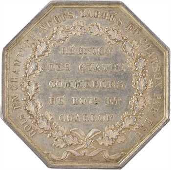 Louis XVIII, approvisionnement de Paris, réunion des commerces de bois en chantier, neufs, carrés et charbon par eau, 1822 Paris