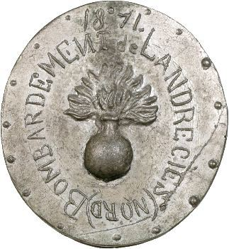 Guerre de 1870-1871, bombardement de Landrecies, 1871