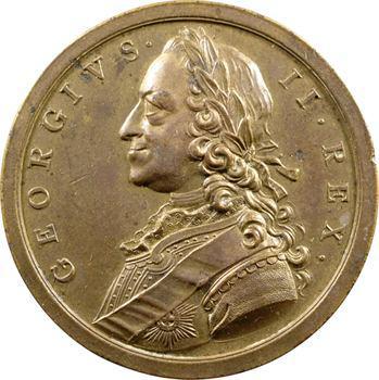 Royaume-Uni, Georges II, médaille bataille des Cardinaux, 1759 Londres