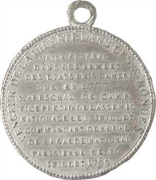 Constitution, hommage à La Fayette, vengeur de la liberté dans les deux mondes, 1789