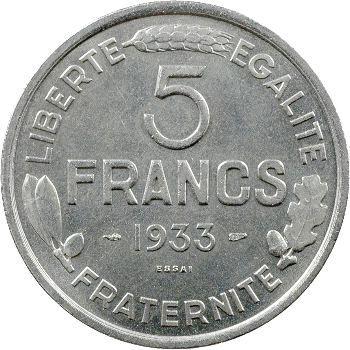 IIIe République, essai de 5 francs par Morlon, 1933 Paris