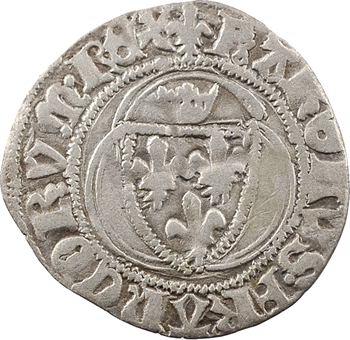 Charles VII, petit blanc à la couronne, 3e émission, Châlons-en-Champagne