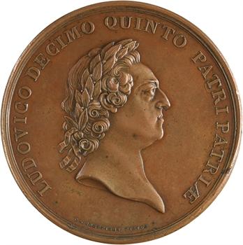 Louis XV, rattachement de la Corse à la France, par Roëttiers, 1770 Paris