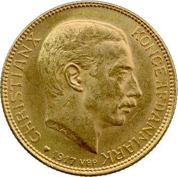 Danemark, 20 Kroner ou couronnes, 1917 Copenhague