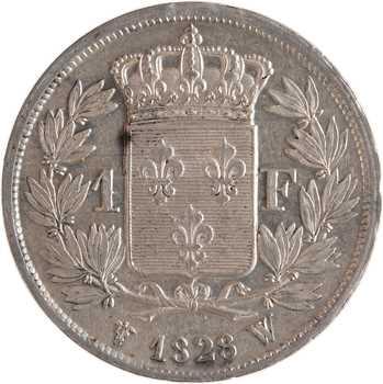 Charles X, 1 franc, 1828 Lille