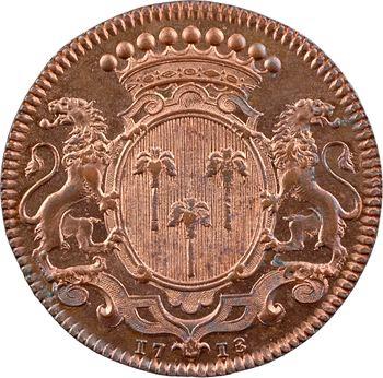 Bourgogne, Pierre Grassin directeur général de la Monnaie de Paris, par Roëttiers, 1713 Paris