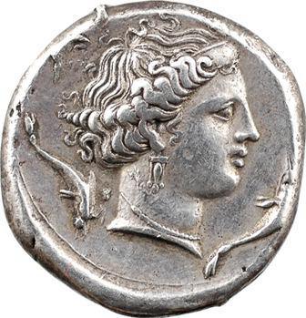 Sicile, Siculo-puniques, Panorme, tétradrachme, imitation de Syracuse, 360-340 av. J.-C.