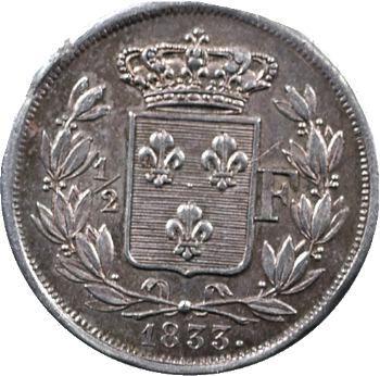 Henri V, 1/2 franc, 1833