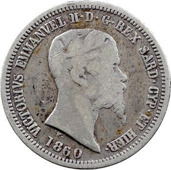 Italie, Savoie-Sardaigne, Victor-Emmanuel II, 50 centesimi, 1860 Milan