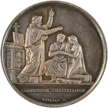 IIIe République, médaille de mariage, par Gayrard, 1928