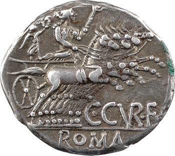 Curiatia, denier, Rome, 135 av. J.-C.