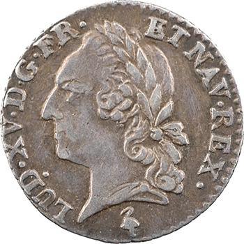 Louis XVI, vingtième d'écu aux nom et effigie de Louis XV, 1779, 2d semestre, Paris