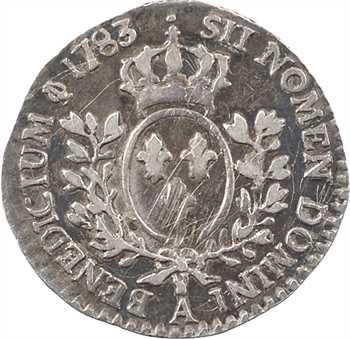 Louis XVI, vingtième d'écu aux rameaux d'olivier, 1783, 2d semestre, Paris