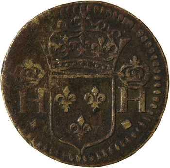Henri II ou Henri III, poids monétaire du 1/2 teston, s.d