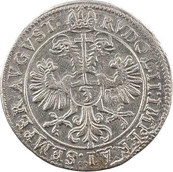 Murbach et Lure (abbaye de), André d'Autriche, 3 kreuzers, 1596