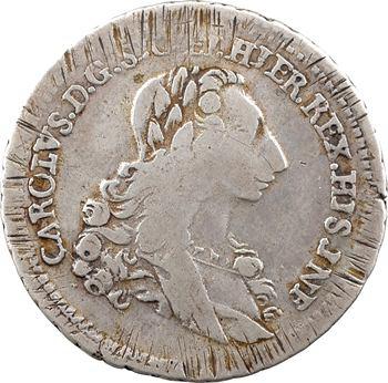 Italie, Sicile (royaume de), Charles de Bourbon, 6 tari, 1735 Palerme