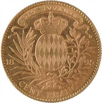 Monaco, Albert Ier, cent francs or transformée en médaille de mariage, 1895/1900 Paris