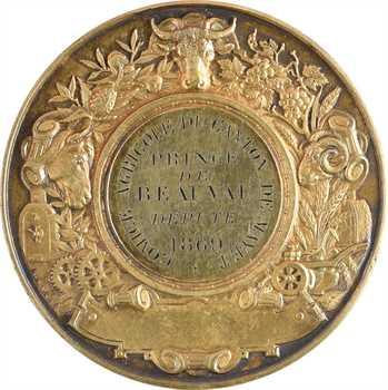Second Empire, comice agricole de Mayet, au Prince de Beauvau, député, 1869 Paris