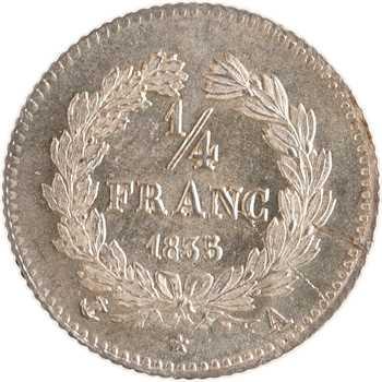 Louis-Philippe Ier, 1/4 franc, 1835 Paris