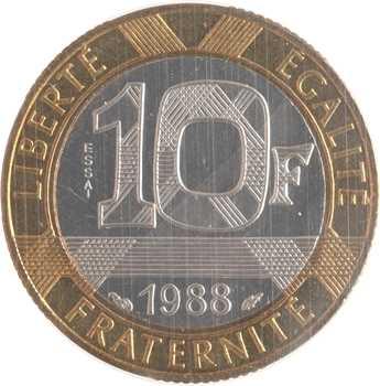 Ve République, essai de 10 francs Génie de la Bastille, 1988 Pessac