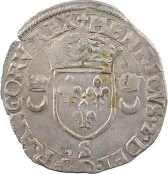 Henri II, douzain aux croissants, 1557 Troyes