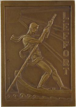 Congo belge, L'effort, par Vriens, 50aire du premier départ au Congo, 1934 (1916-1966) Bruxelles (Fonson)