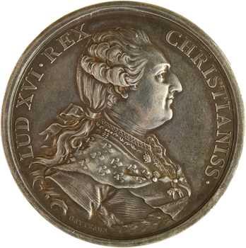 Louis XVI/Premier Empire, mariage de Louis XVI et Marie-Antoinette, détournée en médaille de mariage, 1770 (1803) Paris