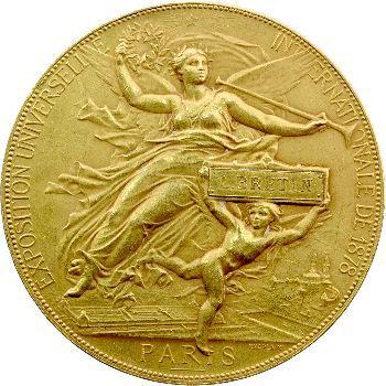 IIIe République, médaille Exposition universelle internationale, 1878 Paris
