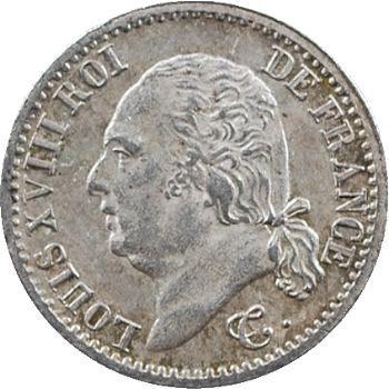 Louis XVIII, 1/4 de franc, 1817 Paris