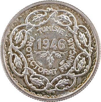 Tunisie (Protectorat français), Mohamed Lamine, 10 francs, 1946 Paris