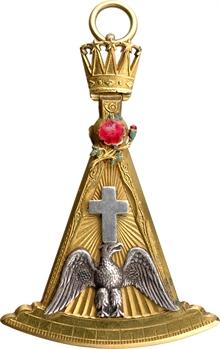 Franc-maçonnerie, bijou de Souverain Prince Rose-Croix, s.d