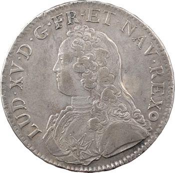 Louis XV, écu aux rameaux d'olivier, 1726 Metz