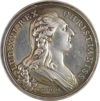 Louis XVI, fondation de l'hospice Beaujon, en argent, 1784 Paris