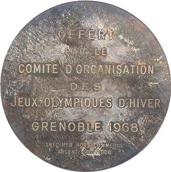 Grenoble, Jeux Olympiques, specimen hors commerce, 1968 Paris