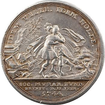 Allemagne, Brunswick, inauguration de la loge Jonathan, 5744 (1744)