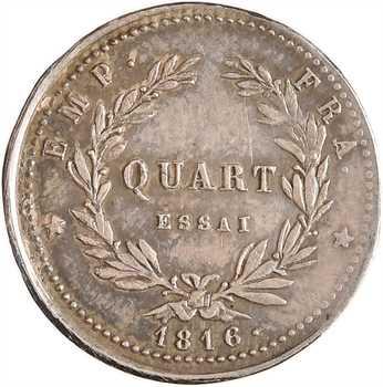 Napoléon II, essai du quart de franc, 1816 (1860) Bruxelles