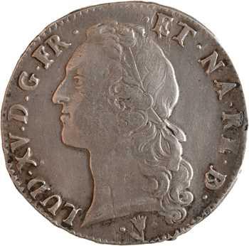 Louis XV, écu au bandeau du Béarn, 1750 Pau