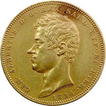 Italie, Savoie-Sardaigne, Charles-Albert, 100 lire, 1834 Gênes