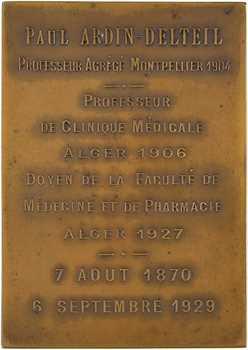Algérie, Alger, Paul Ardin-Delteil, doyen de la faculté de médecine, 1929 Paris