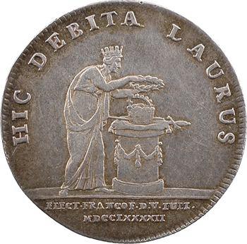 Autriche-Hongrie (Empire), élection de François II à Francfort, jeton au module d'un ducat, 1792