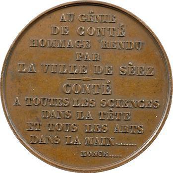Conté (Nicolas-Jacques), monument d'hommage de la ville de Sées, 1852 Paris