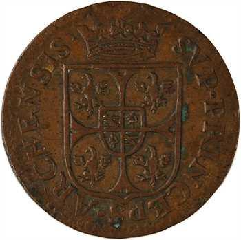 Ardennes, Charleville (principauté de), Charles Ier de Gonzague, liard 2e type, 1610 Charleville