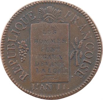 Convention, sol aux balances, refrappe postérieure, 1793 Metz