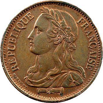 IIe République, piéfort bronze de 10 centimes par Montagny