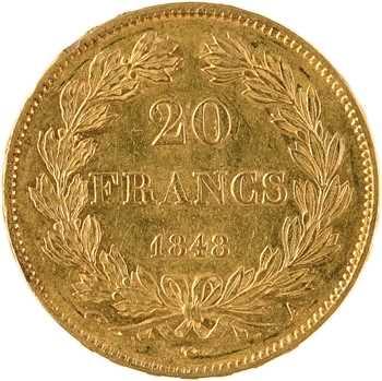 Louis-Philippe Ier, 20 francs Domard, 1848 Paris