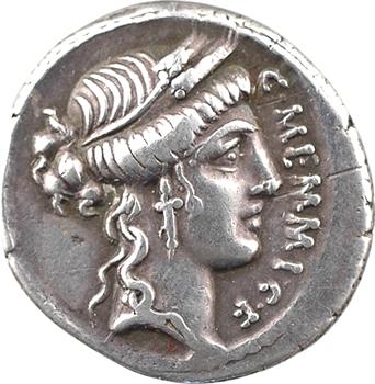 Memmia, denier, Rome, 57-56 av. J.-C.