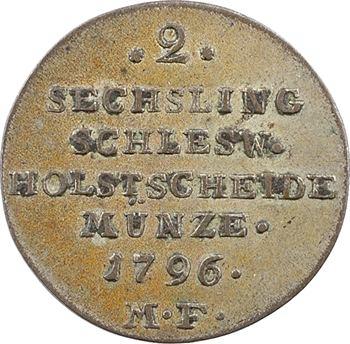 Allemagne, Schleswig-Holstein, Christian VII, 2 sechsling (1 shilling), 1796 Altona