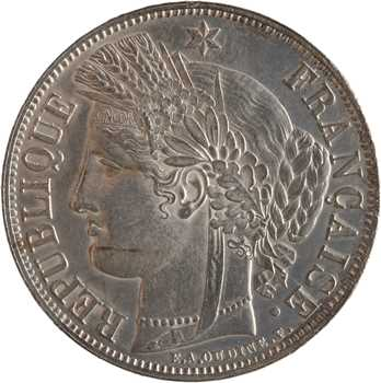 IIe République, 5 francs Cérès, 1851 Paris