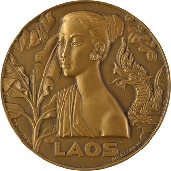 IVe République, Messageries Maritimes, Le Laos, par Tschudin (dans sa boîte), 1954 Paris